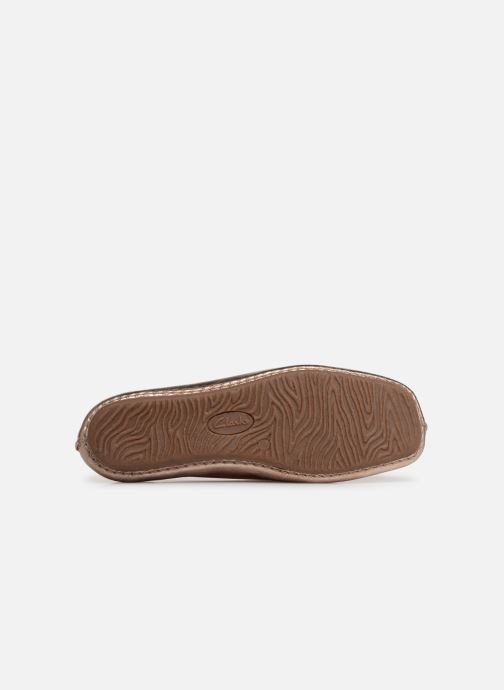 Ballerinas Clarks Unstructured Freckle Ice gold/bronze ansicht von oben