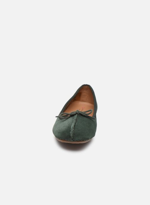 Bailarinas Clarks Unstructured Freckle Ice Verde vista del modelo