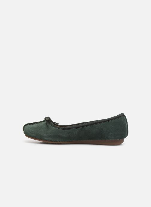 Bailarinas Clarks Unstructured Freckle Ice Verde vista de frente