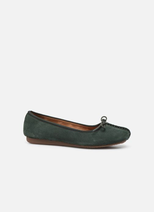 Bailarinas Clarks Unstructured Freckle Ice Verde vistra trasera