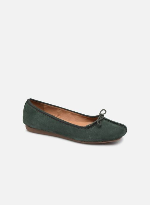 Ballerines Clarks Unstructured Freckle Ice Vert vue détail/paire