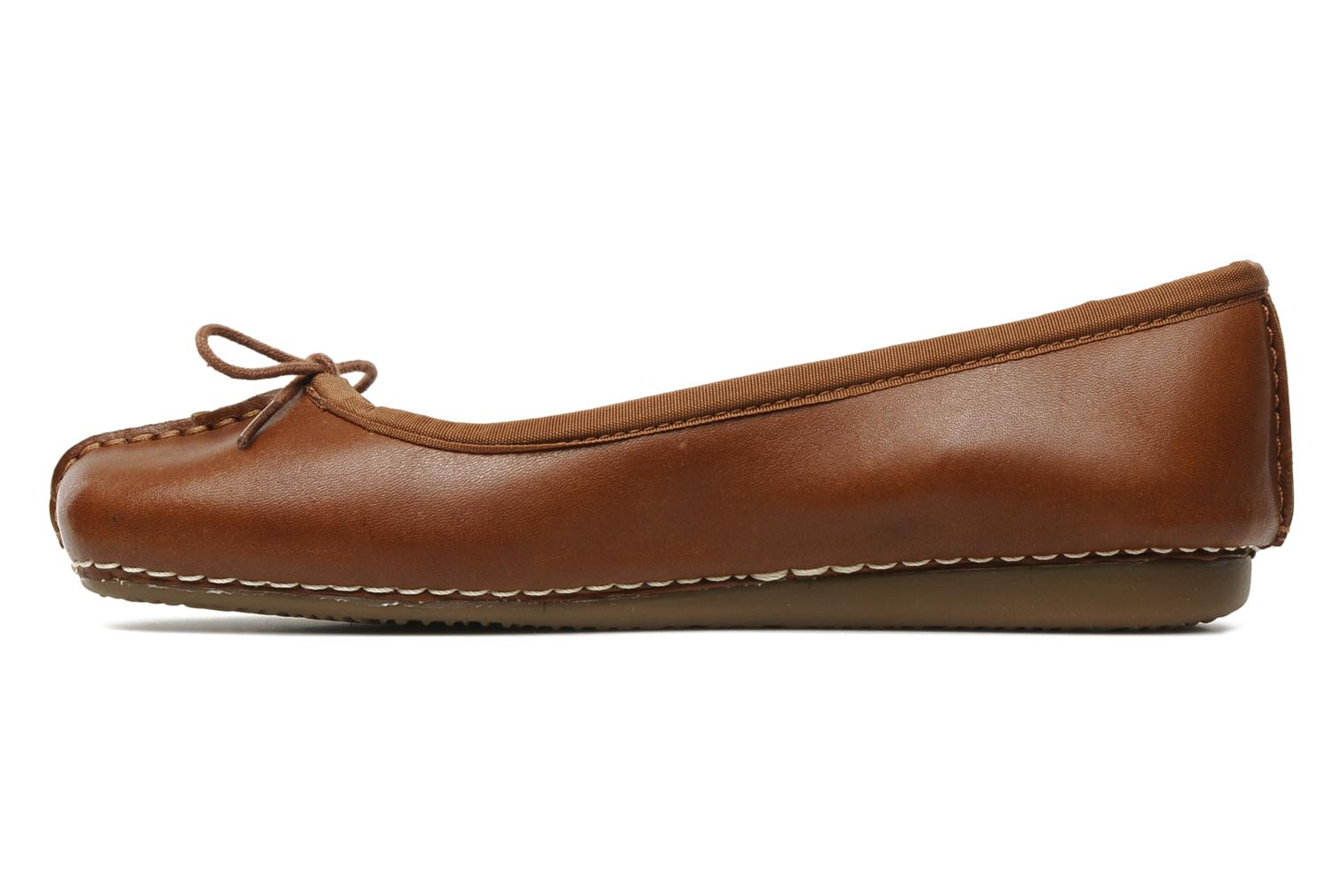 Ballet pumps Clarks Unstructured Freckle Ice Brown front view