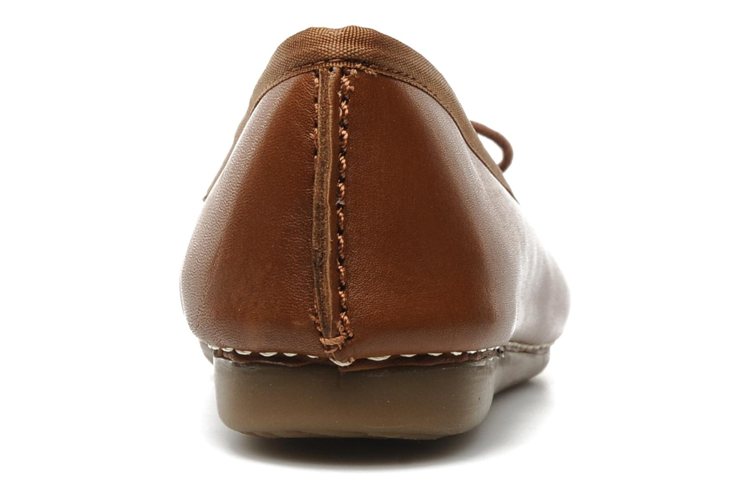 Ballet pumps Clarks Unstructured Freckle Ice Brown view from the right