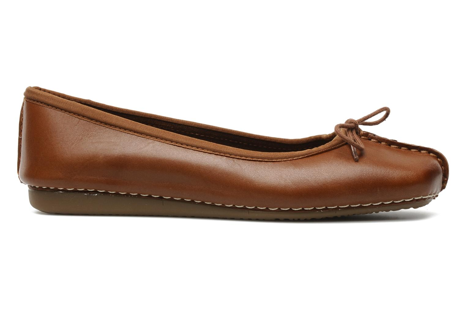 Ballet pumps Clarks Unstructured Freckle Ice Brown back view