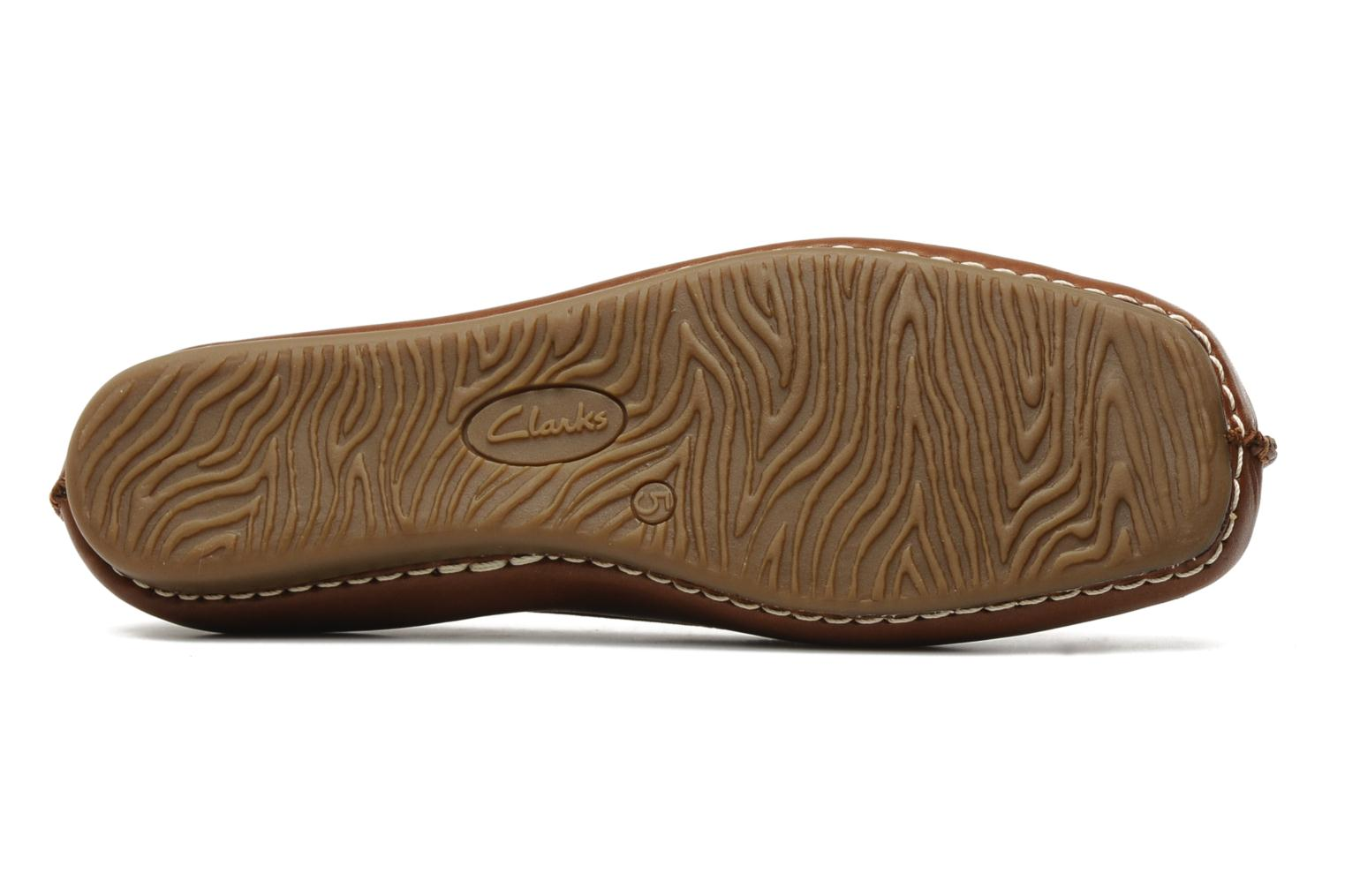Ballet pumps Clarks Unstructured Freckle Ice Brown view from above
