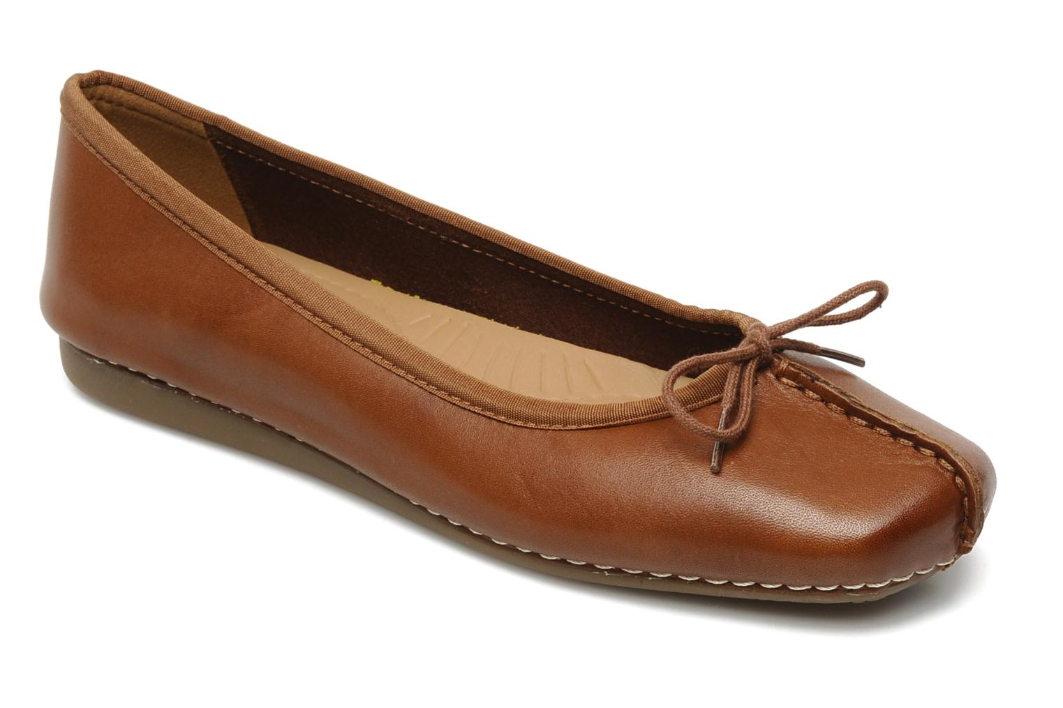 Ballet pumps Clarks Unstructured Freckle Ice Brown detailed view/ Pair view