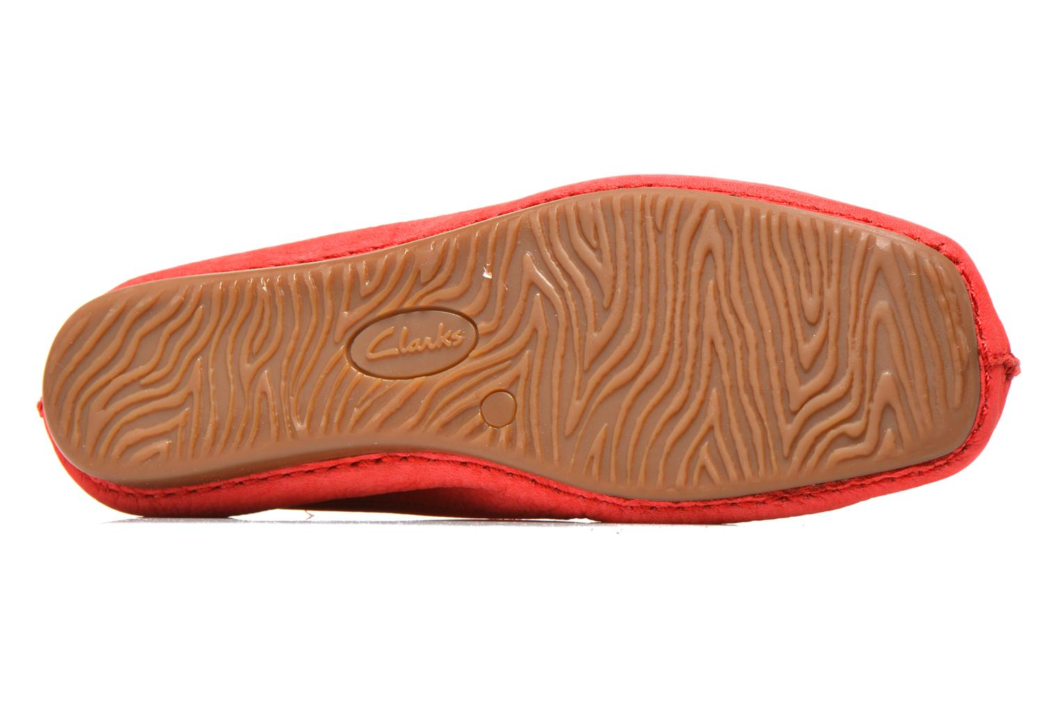 Bailarinas Clarks Unstructured Freckle Ice Rojo vista de arriba