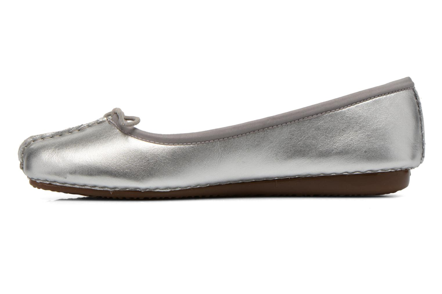 Ballet pumps Clarks Unstructured Freckle Ice Silver front view