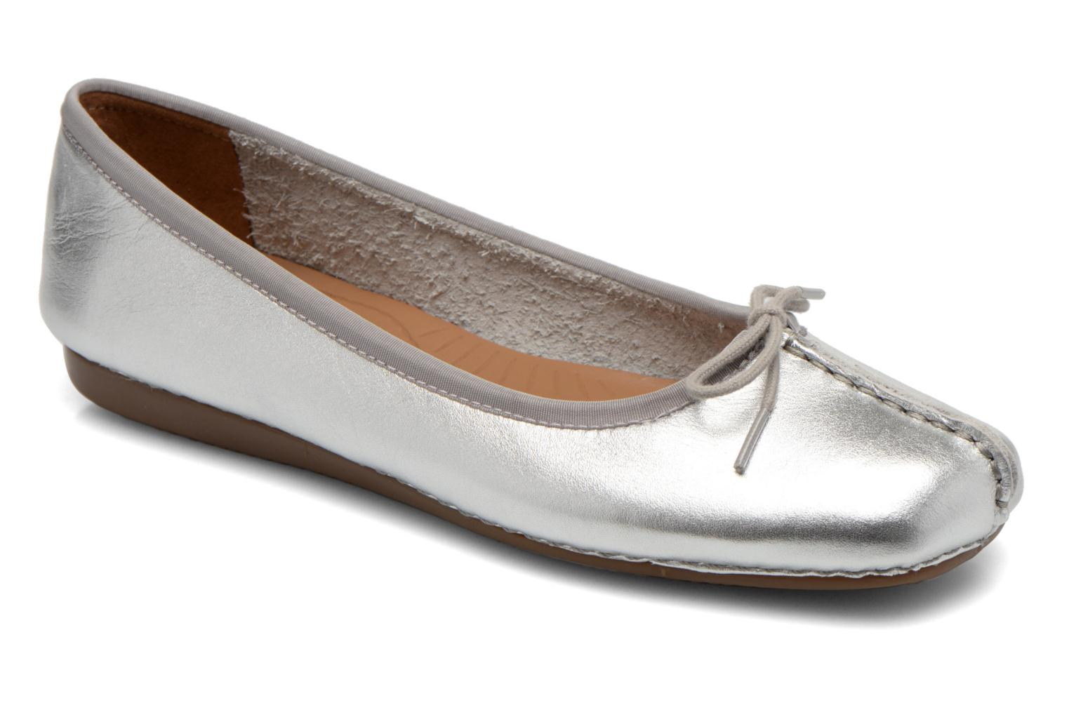 Ballet pumps Clarks Unstructured Freckle Ice Silver detailed view/ Pair view