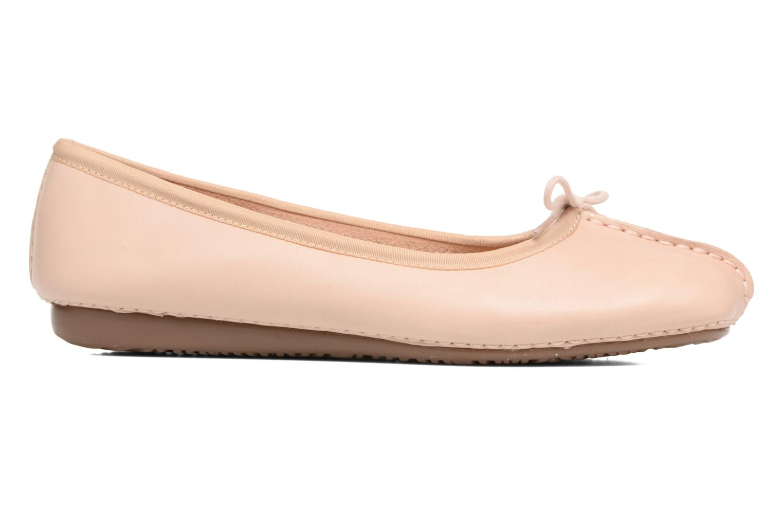 Bailarinas Clarks Unstructured Freckle Ice Rosa vistra trasera