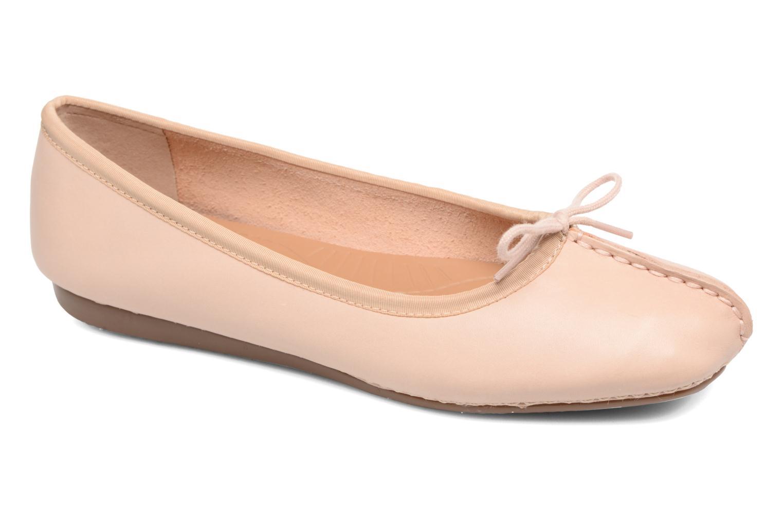 Bailarinas Clarks Unstructured Freckle Ice Rosa vista de detalle / par