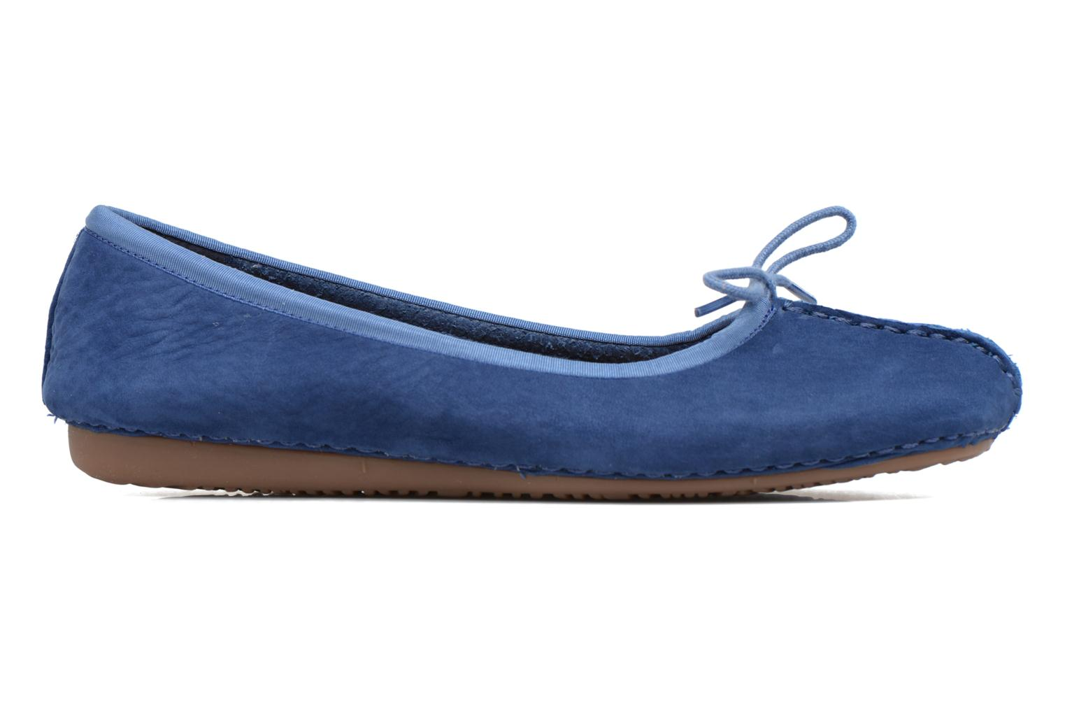 Ballet pumps Clarks Unstructured Freckle Ice Blue back view