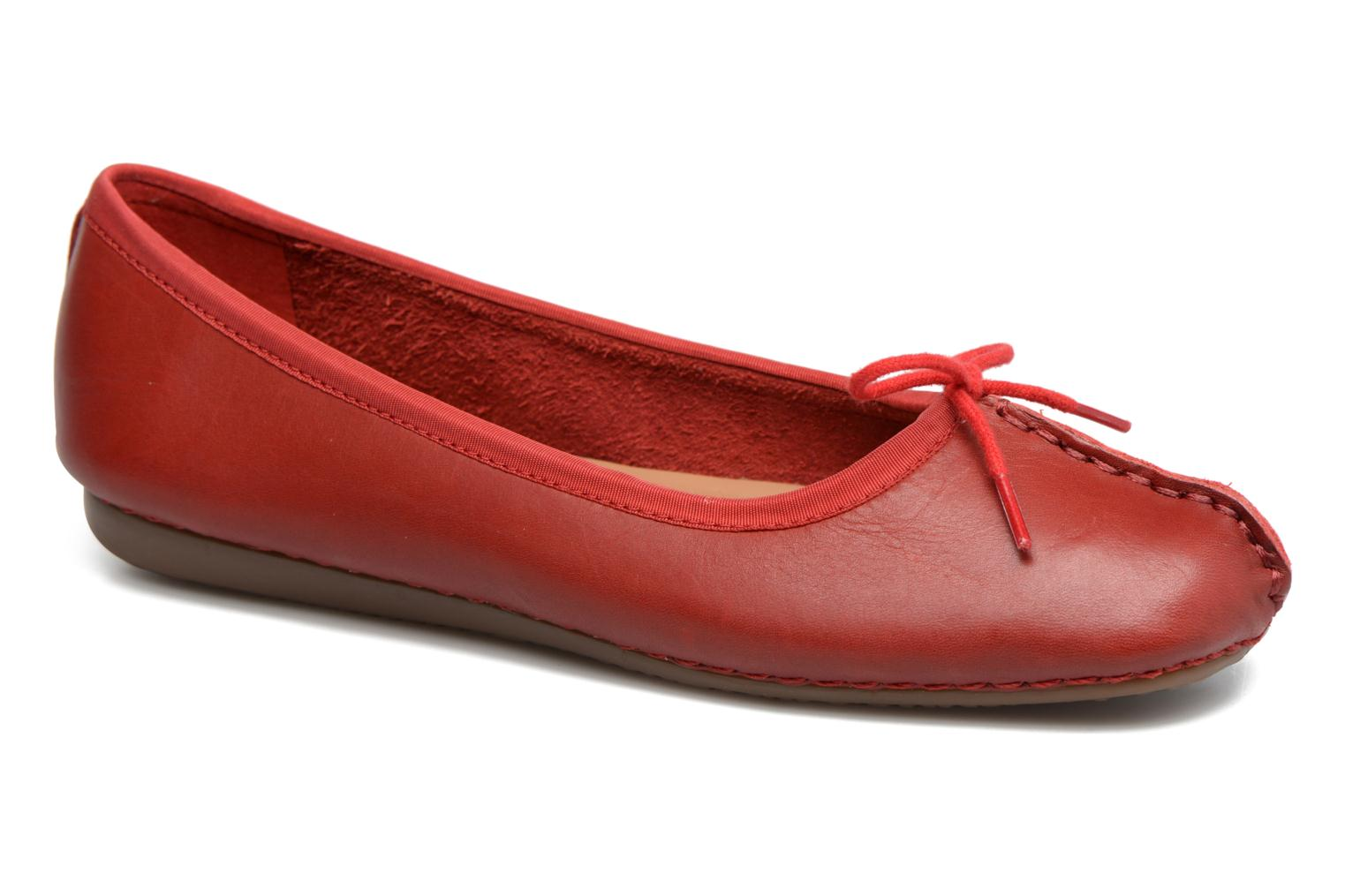 Ballerines Clarks Unstructured Freckle Ice Rouge vue détail/paire