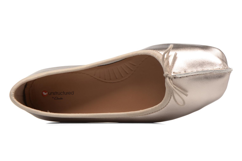 Ballerinas Clarks Unstructured Freckle Ice gold/bronze ansicht von links