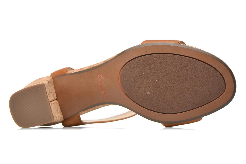 Sandales et nu-pieds Clarks Smart Deva Marron vue haut