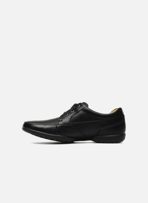 Lace-up shoes Clarks Recline Out Black front view