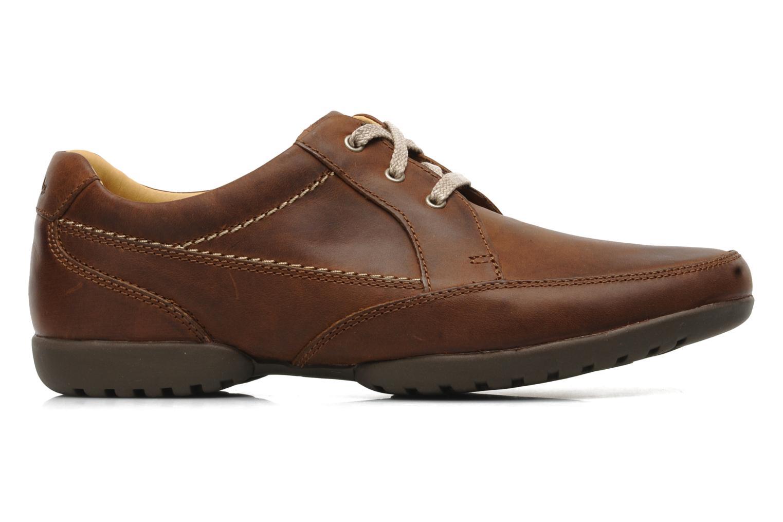 Chaussures à lacets Clarks Recline Out Marron vue derrière