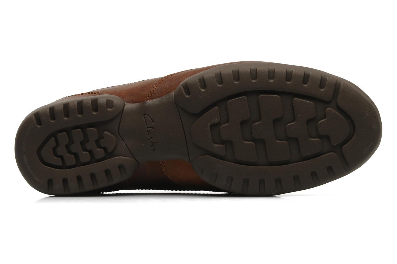 Chaussures à lacets Clarks Recline Out Marron vue haut