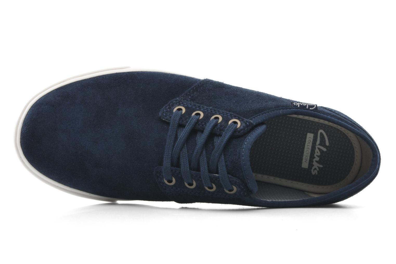 Zapatos con cordones Clarks Torbay Lace Azul vista lateral izquierda