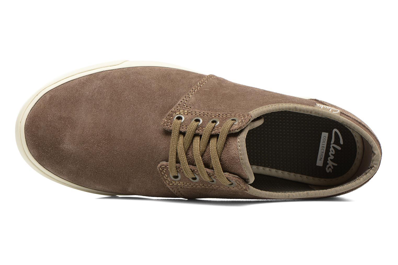 Zapatos con cordones Clarks Torbay Lace Gris vista lateral izquierda