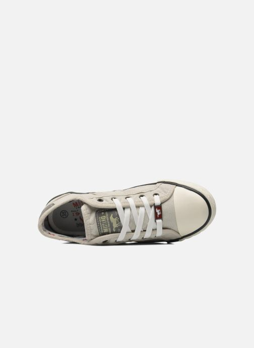 Trainers Mustang shoes Flaki Beige view from the left