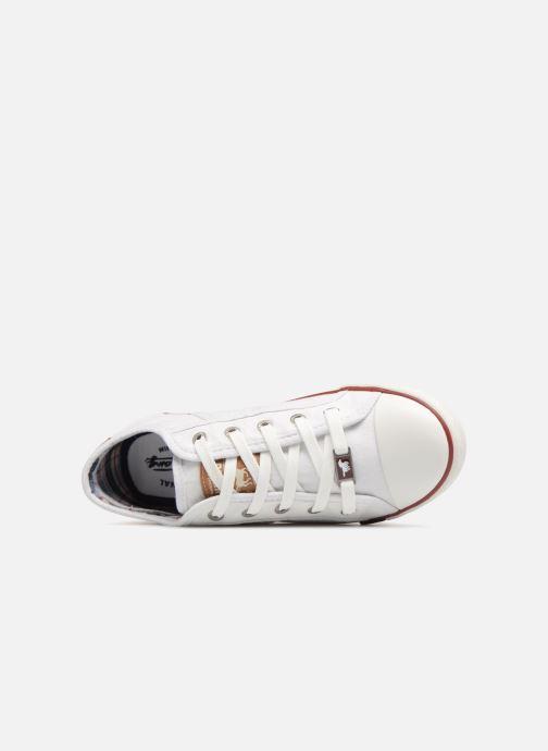Sneaker Mustang shoes Flaki weiß ansicht von links