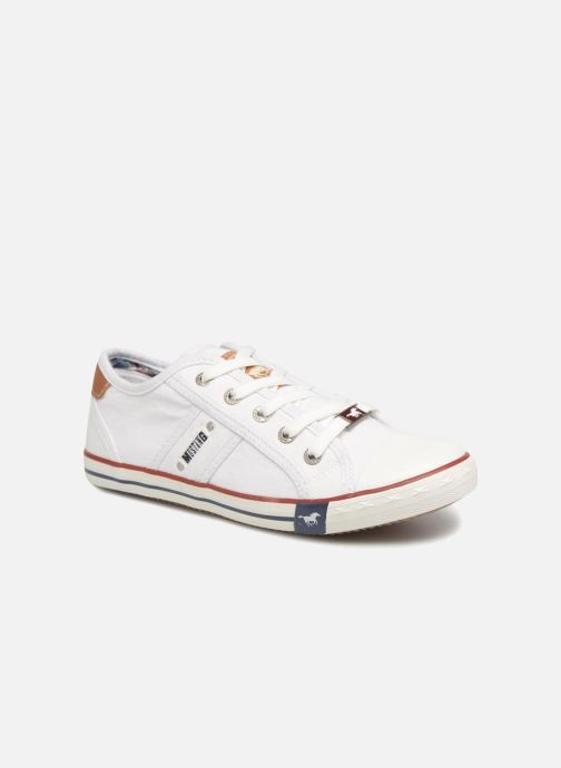 Baskets Mustang shoes Flaki Blanc vue détail/paire