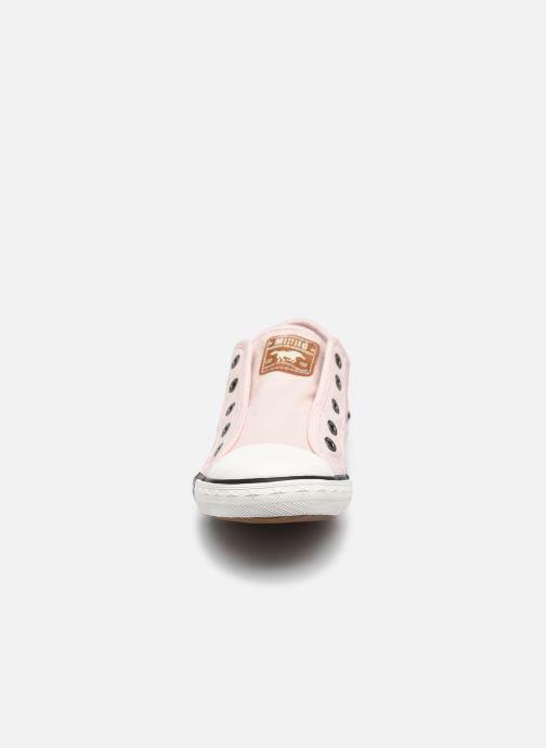 Baskets Mustang shoes Flaki Rose vue portées chaussures
