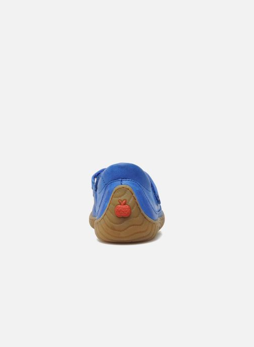 Sneakers Pom d Api Woody Bi Velcro Blauw rechts