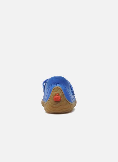 Baskets Pom d Api Woody Bi Velcro Bleu vue droite