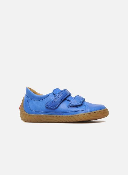 Sneakers Pom d Api Woody Bi Velcro Blauw achterkant