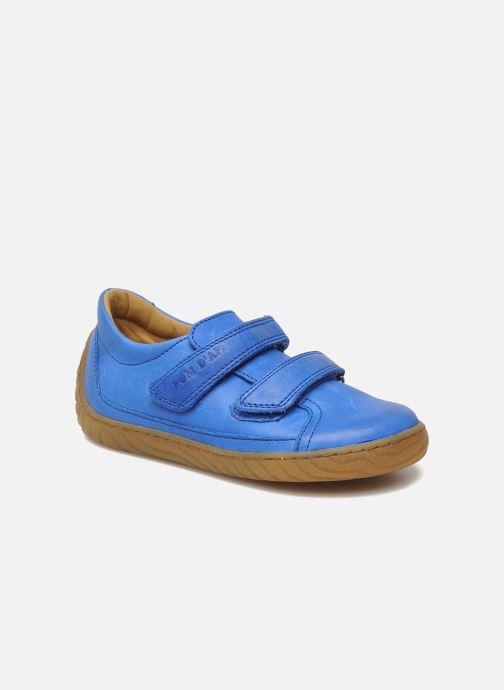 Baskets Pom d Api Woody Bi Velcro Bleu vue détail/paire