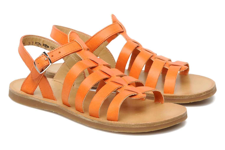 Sandales et nu-pieds Pom d Api Plagette Strap Natur Orange vue 3/4