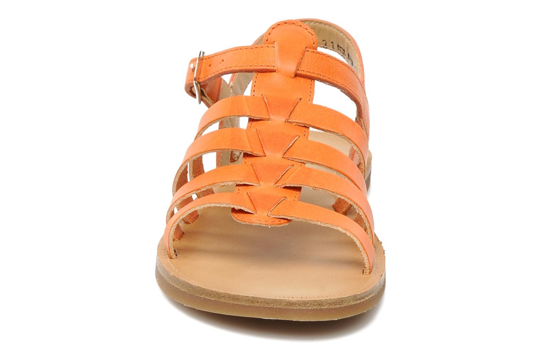 Sandales et nu-pieds Pom d Api Plagette Strap Natur Orange vue portées chaussures