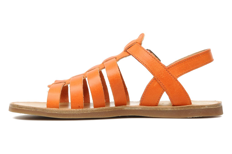 Sandales et nu-pieds Pom d Api Plagette Strap Natur Orange vue face