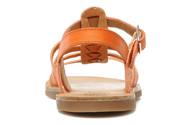 Sandales et nu-pieds Pom d Api Plagette Strap Natur Orange vue droite
