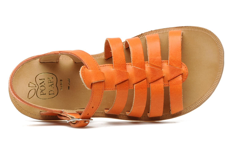 Sandales et nu-pieds Pom d Api Plagette Strap Natur Orange vue gauche