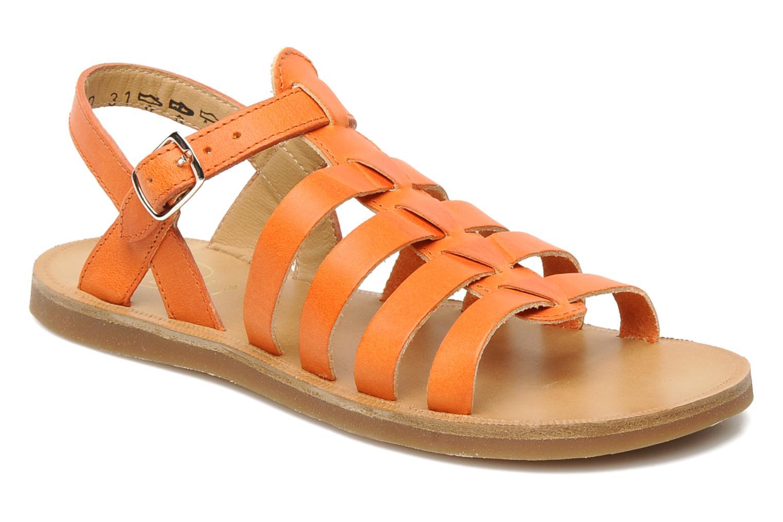 Sandales et nu-pieds Pom d Api Plagette Strap Natur Orange vue détail/paire