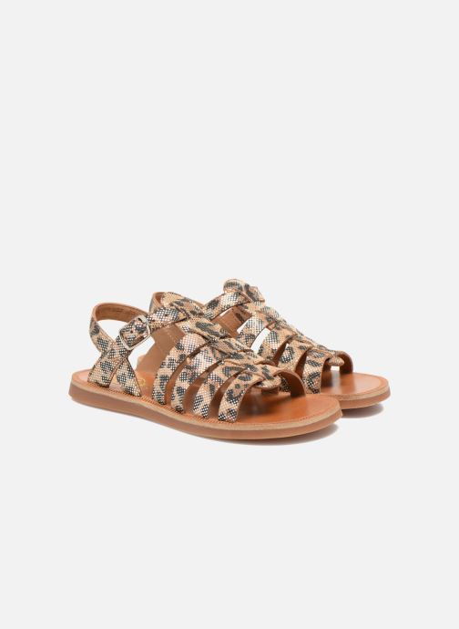 Sandales et nu-pieds Pom d Api Plagette Strap Beige vue 3/4