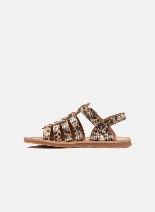 Sandales et nu-pieds Pom d Api Plagette Strap Beige vue face