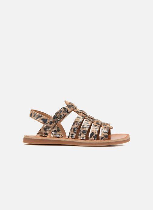 Sandals Pom d Api Plagette Strap Beige back view