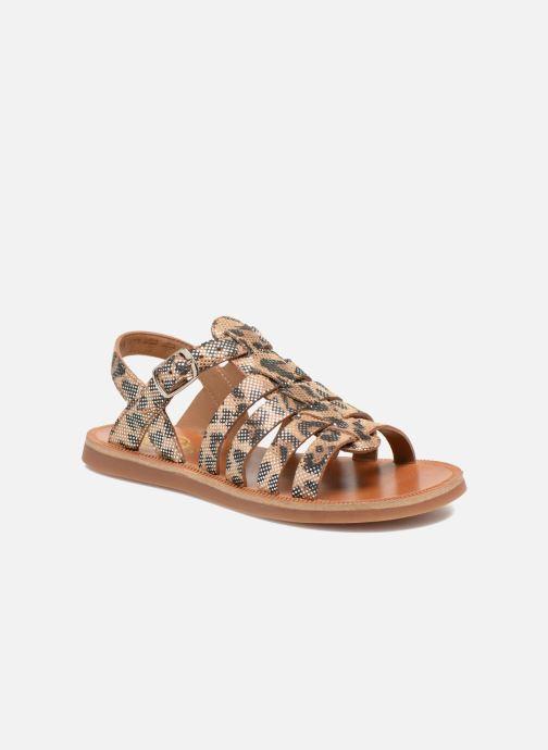 Sandals Pom d Api Plagette Strap Beige detailed view/ Pair view
