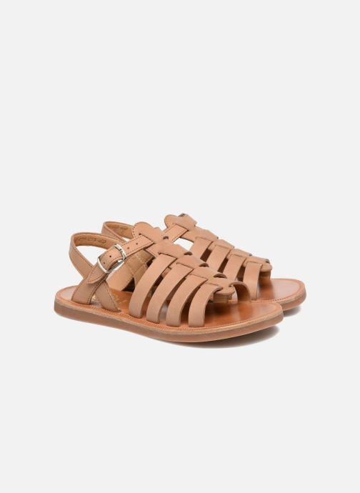 Sandales et nu-pieds Pom d Api Plagette Strap Marron vue 3/4