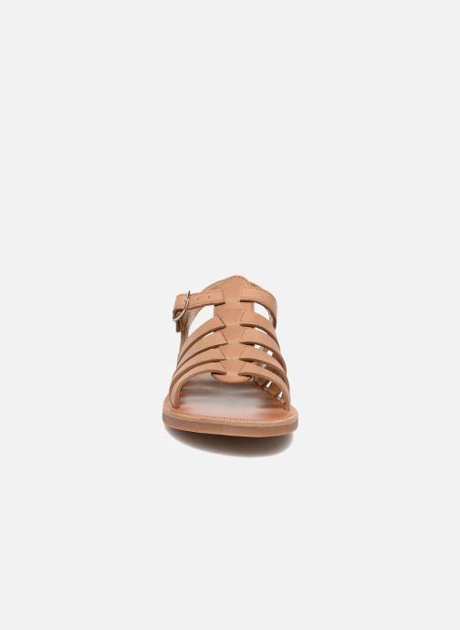 Sandales et nu-pieds Pom d Api Plagette Strap Marron vue portées chaussures