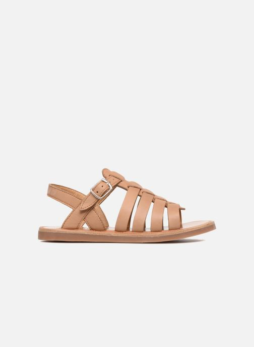 Sandales et nu-pieds Pom d Api Plagette Strap Marron vue derrière