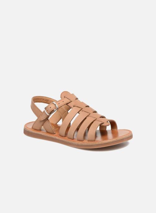 Sandaler Pom d Api Plagette Strap Brun detaljeret billede af skoene