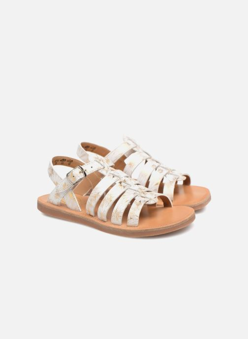 Sandales et nu-pieds Pom d Api Plagette Strap Blanc vue 3/4
