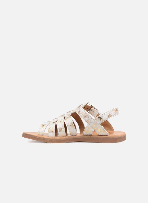 Sandales et nu-pieds Pom d Api Plagette Strap Blanc vue face