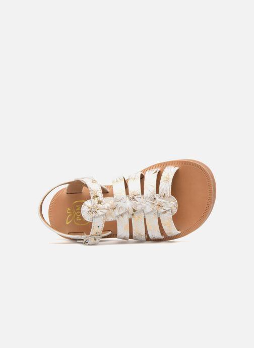 Sandales et nu-pieds Pom d Api Plagette Strap Blanc vue gauche