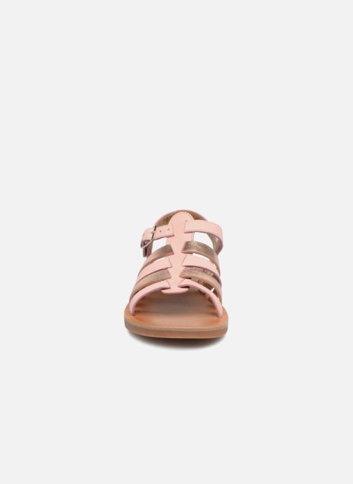 Sandales et nu-pieds Pom d Api Plagette Strap Rose vue face